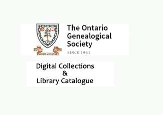 The Ontario genealogical Society digital Collections & Library atalogue